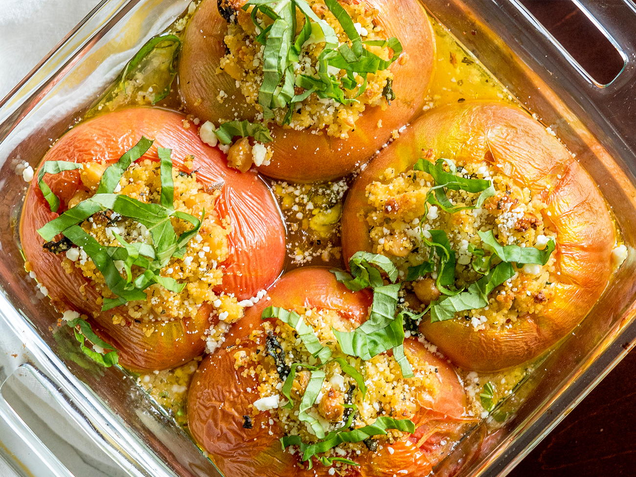Mediterranean Stuffed Tomatoes horizontal 2