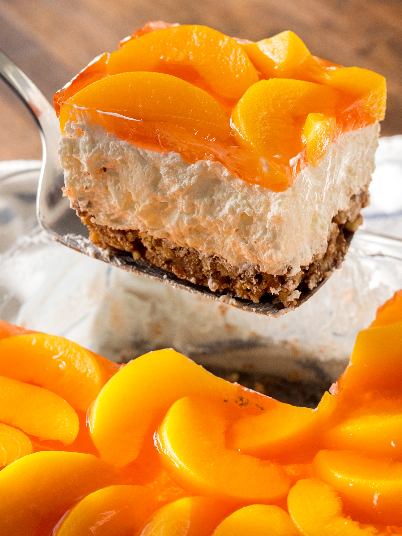 Peach Pretzel Jello Salad Vertical 3