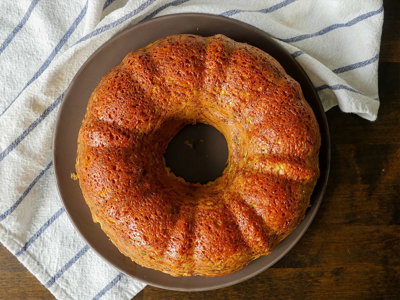 Zucchini Parm Bundt Bread Horizontal 1