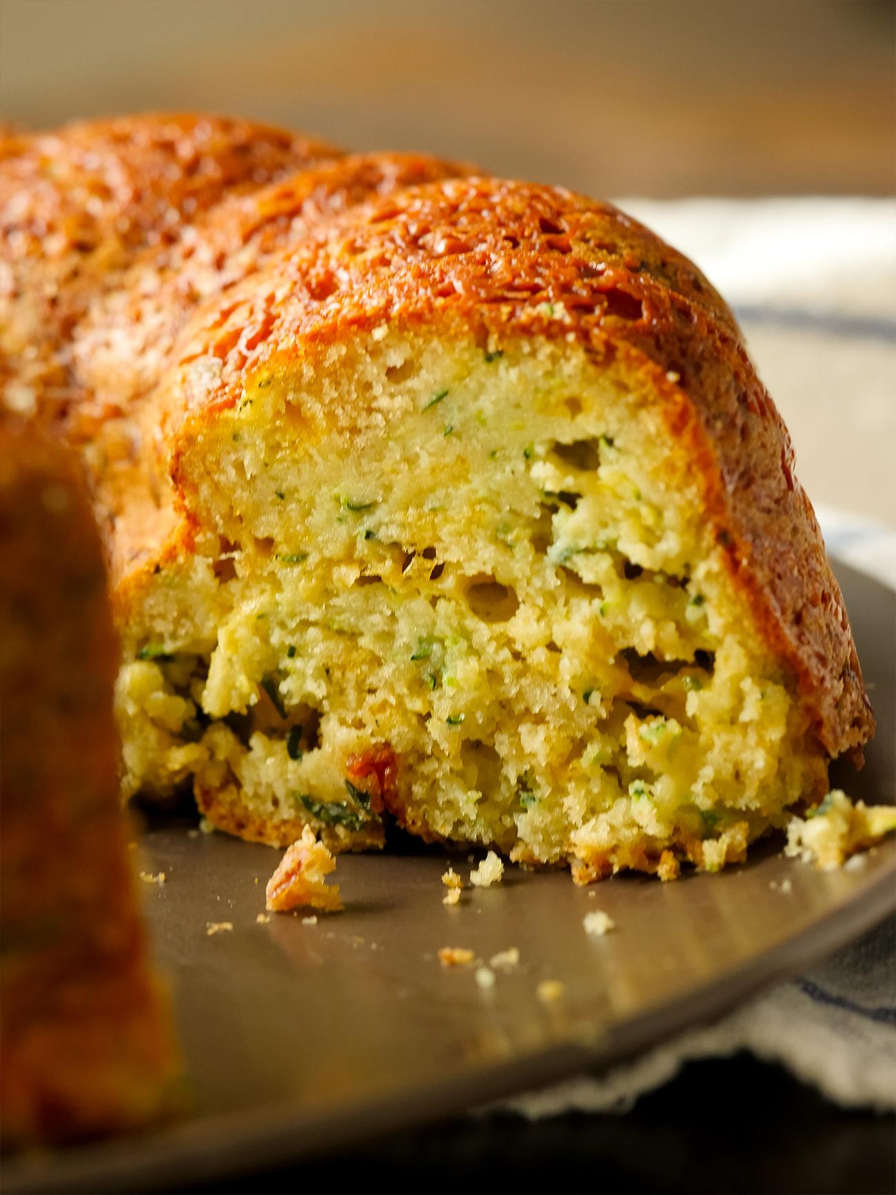 Zucchini Parm Bundt Bread Vertical 3