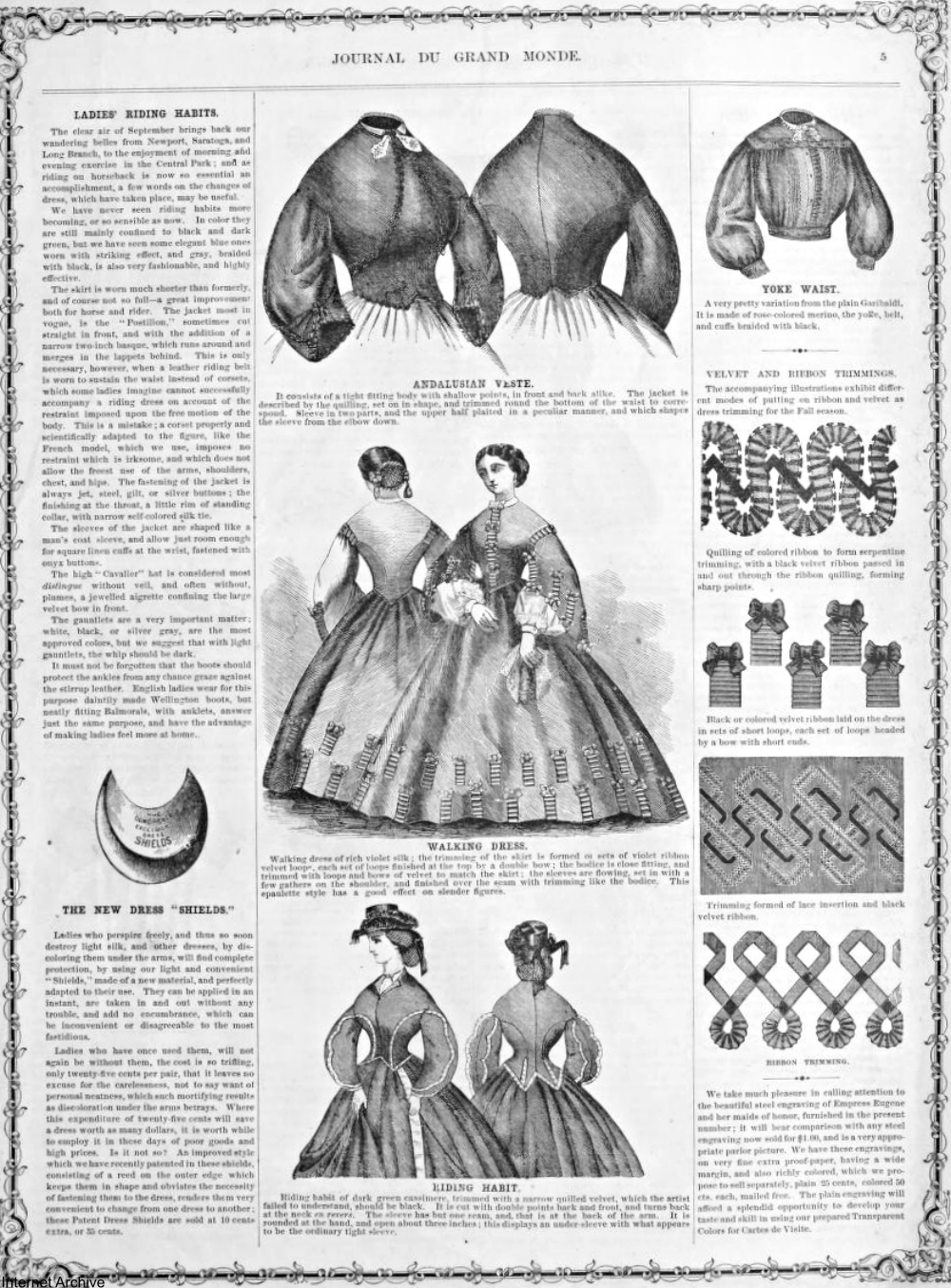 19th Century Ladies Magazines