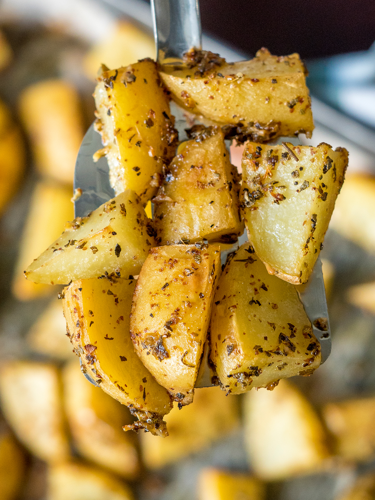 Greek Lemon Garlic Roasted Potatoes Vertical 2