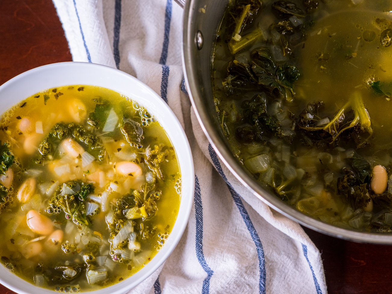 Lemony Kale White Bean Soup Horizontal 5