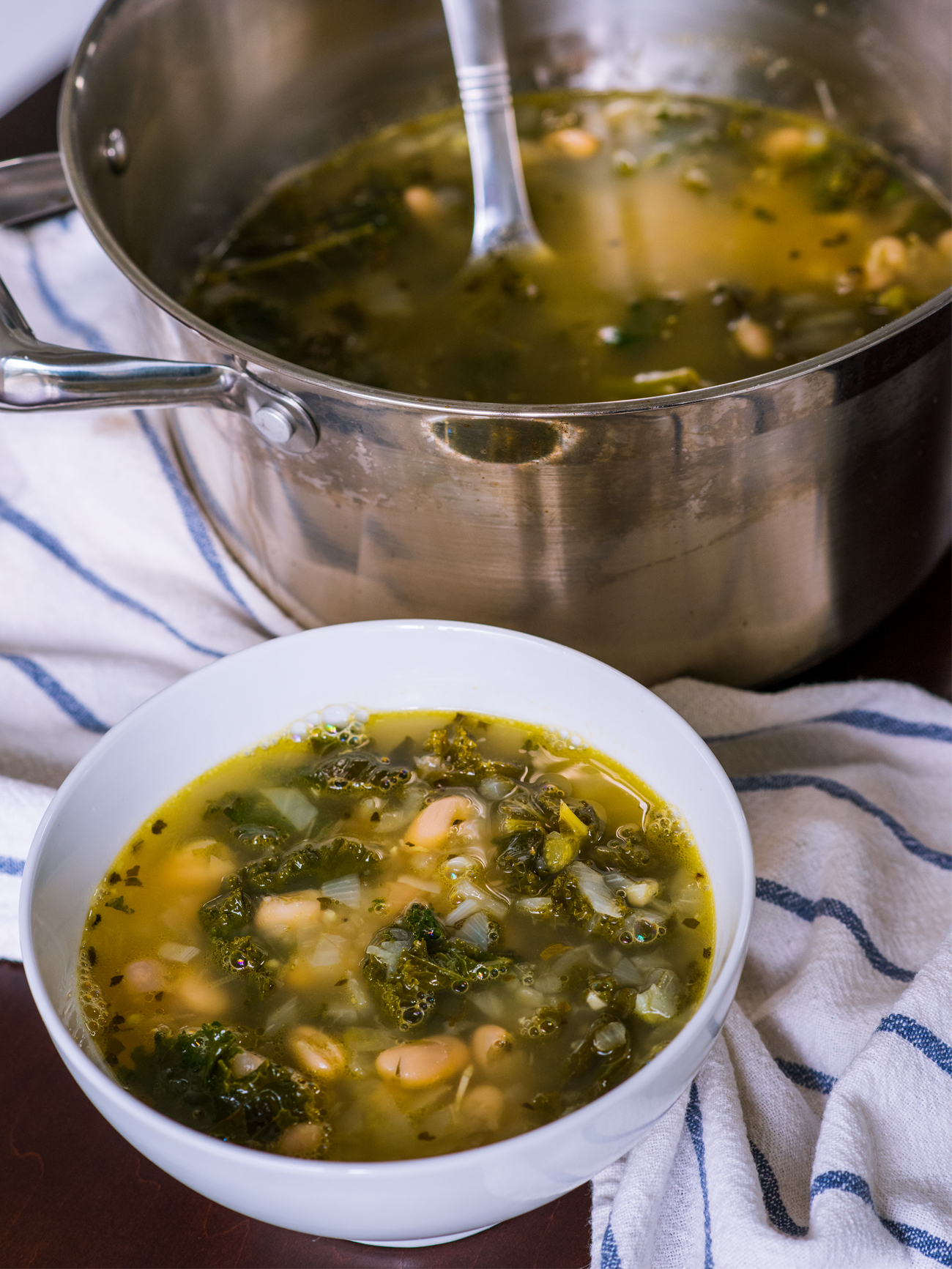 Lemony Kale White Bean Soup Vertical 3