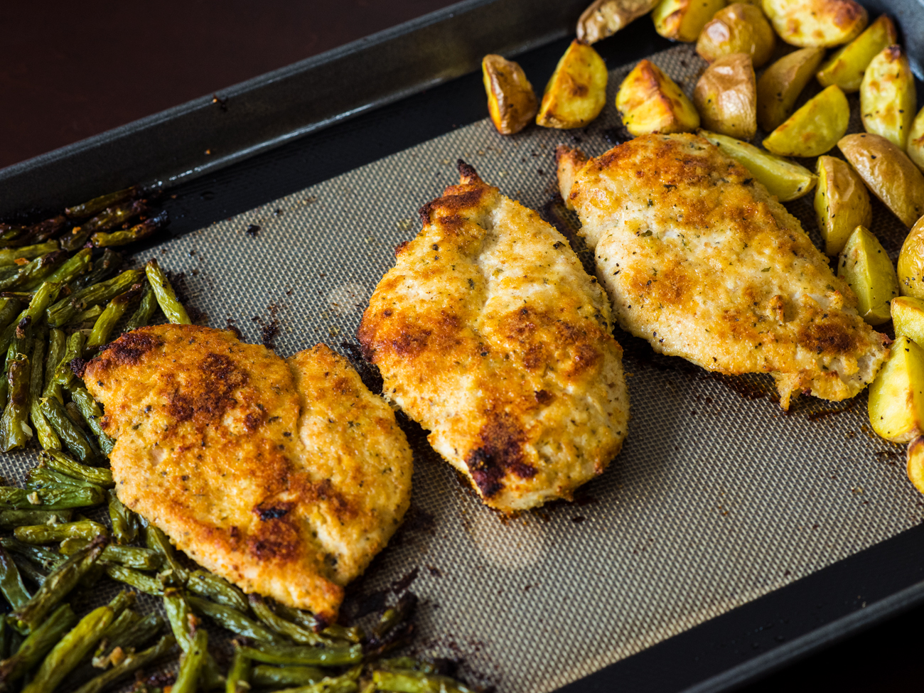 Sheet Pan Lemon Parmesan Chicken Horizontal 1