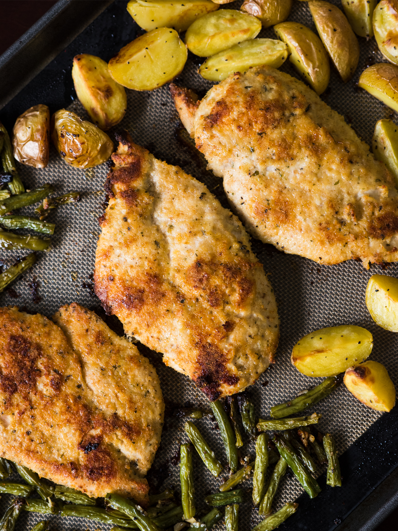 Sheet Pan Lemon Parmesan Chicken Vertical 4