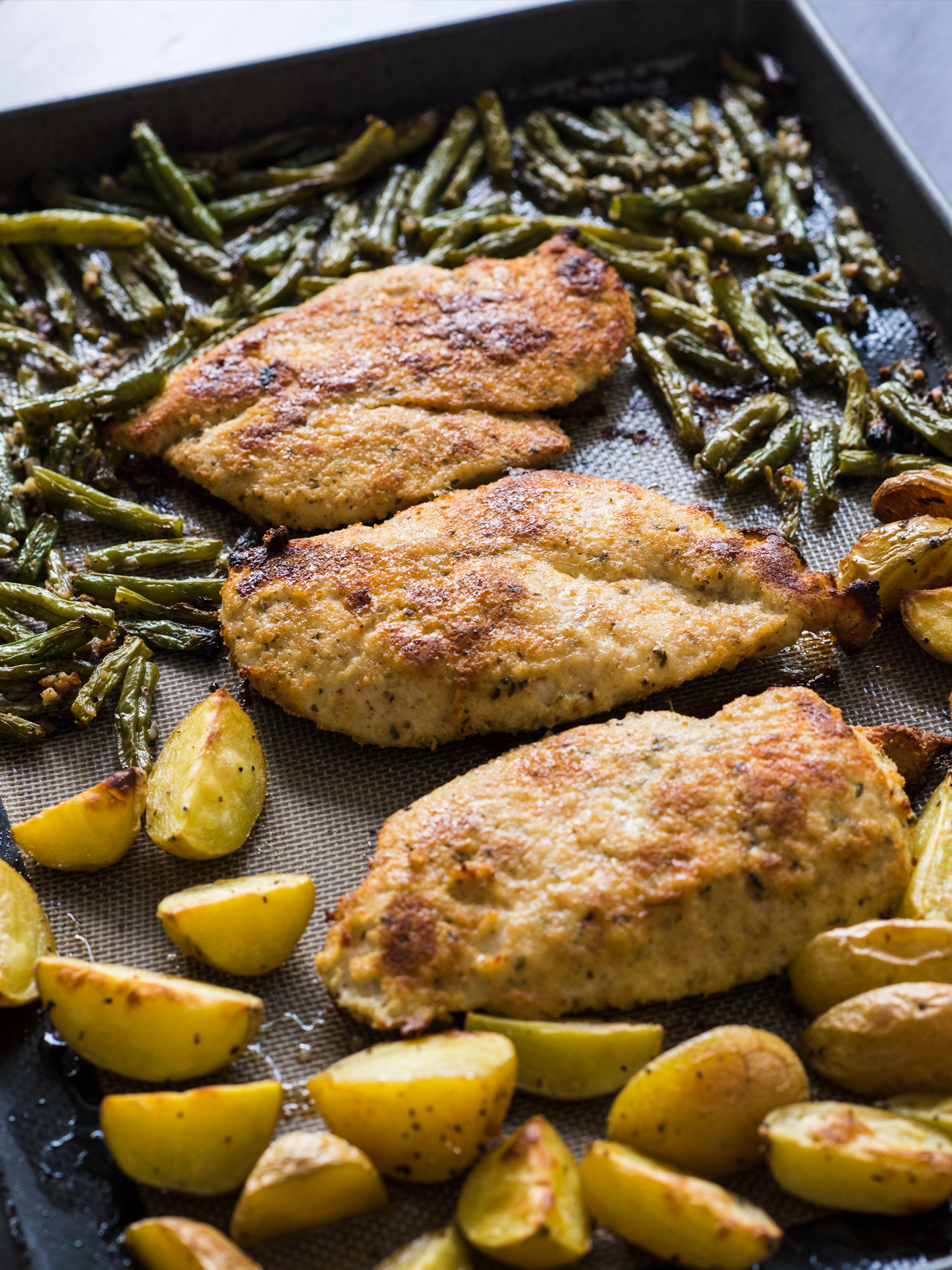 Sheet Pan Lemon Parmesan Chicken Vertical 5