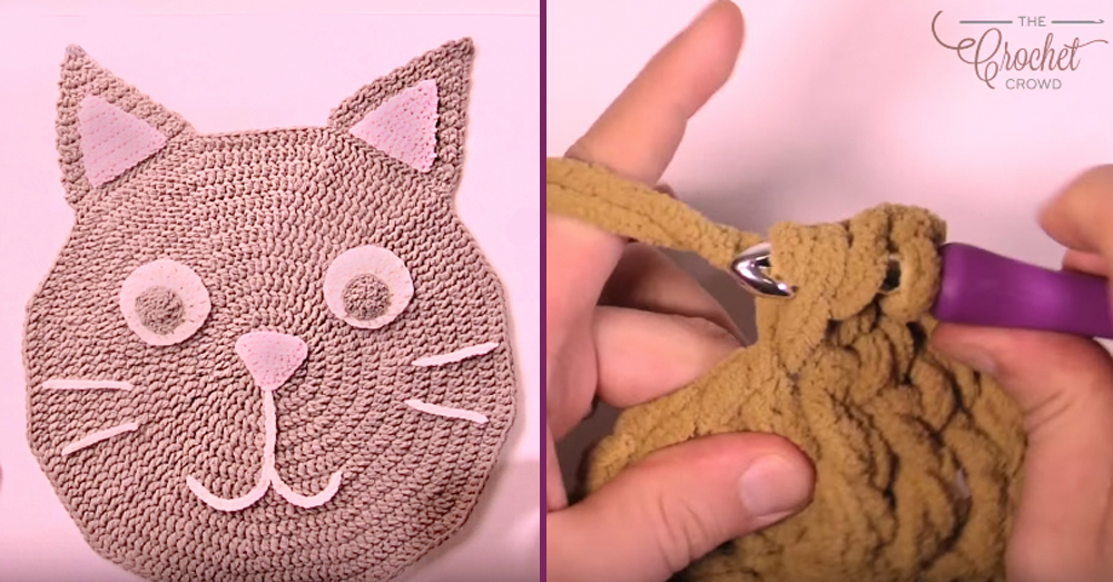 cat rug crochet