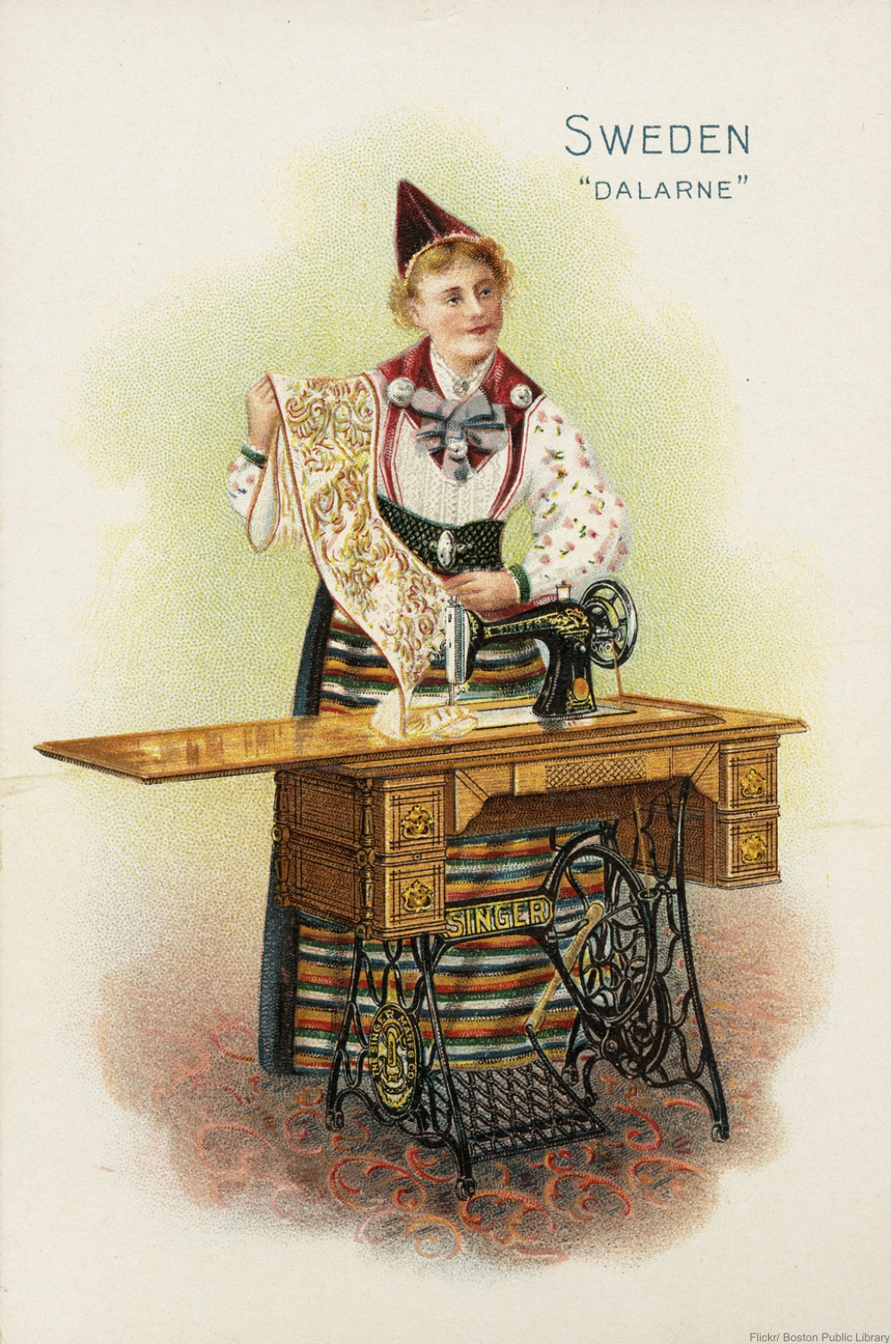 Singer's 1890s lithograph advertisements are gorgeous
