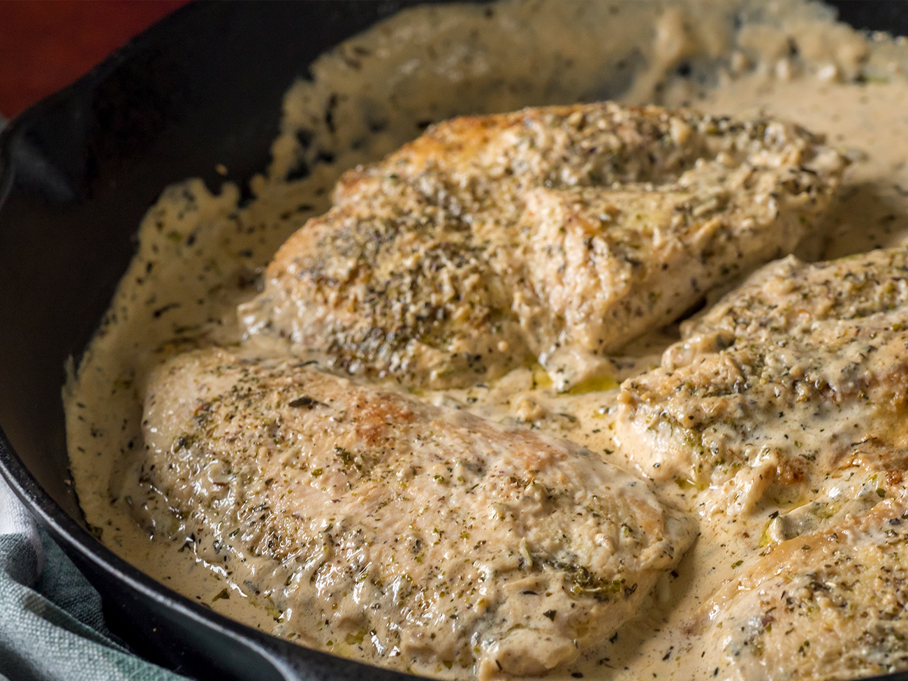 Creamy Herbed Chicken Skillet Horizontal 6