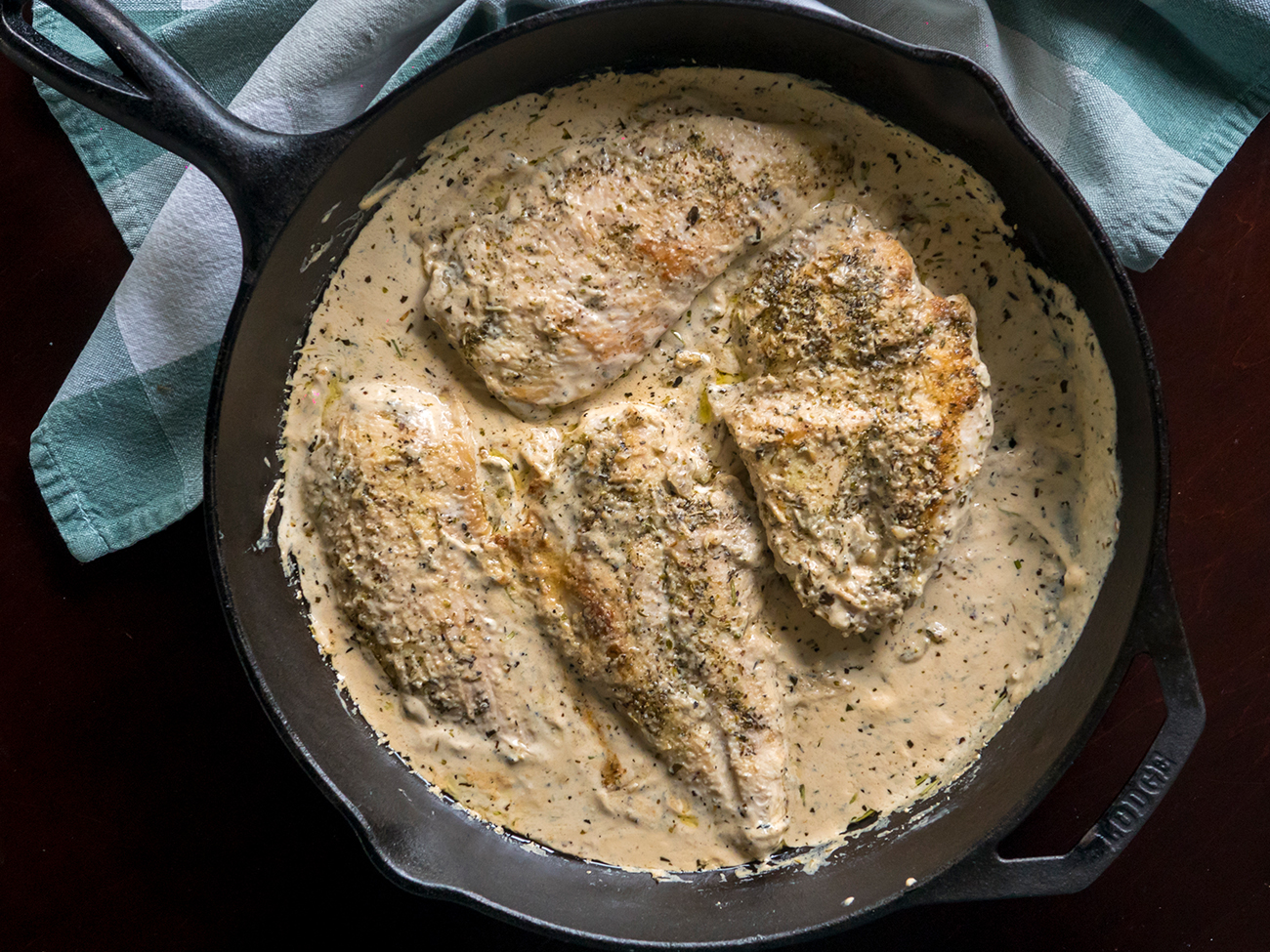 Creamy Herbed Chicken Skillet Horizontal 7