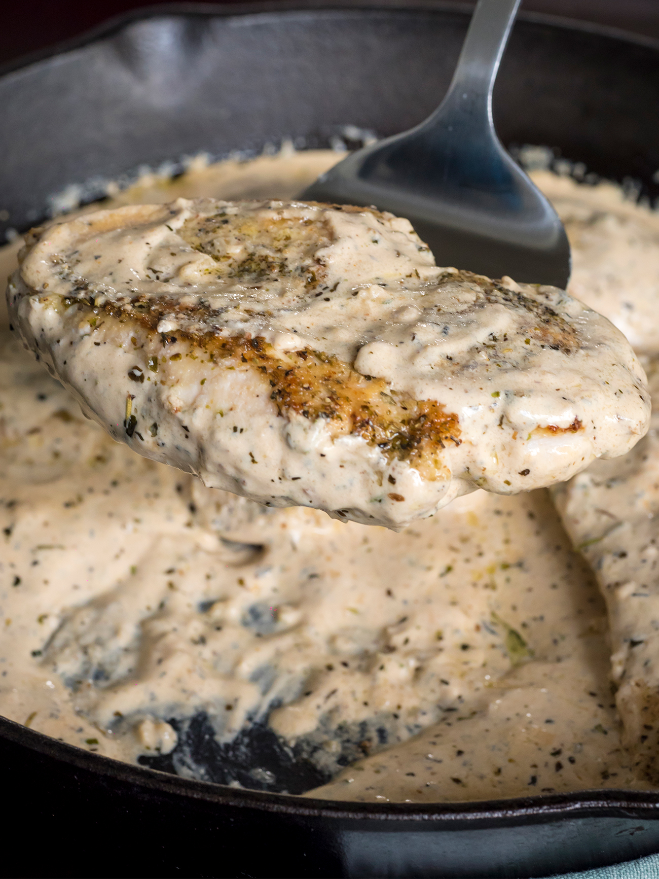 Creamy Herbed Chicken Skillet Vertical 1