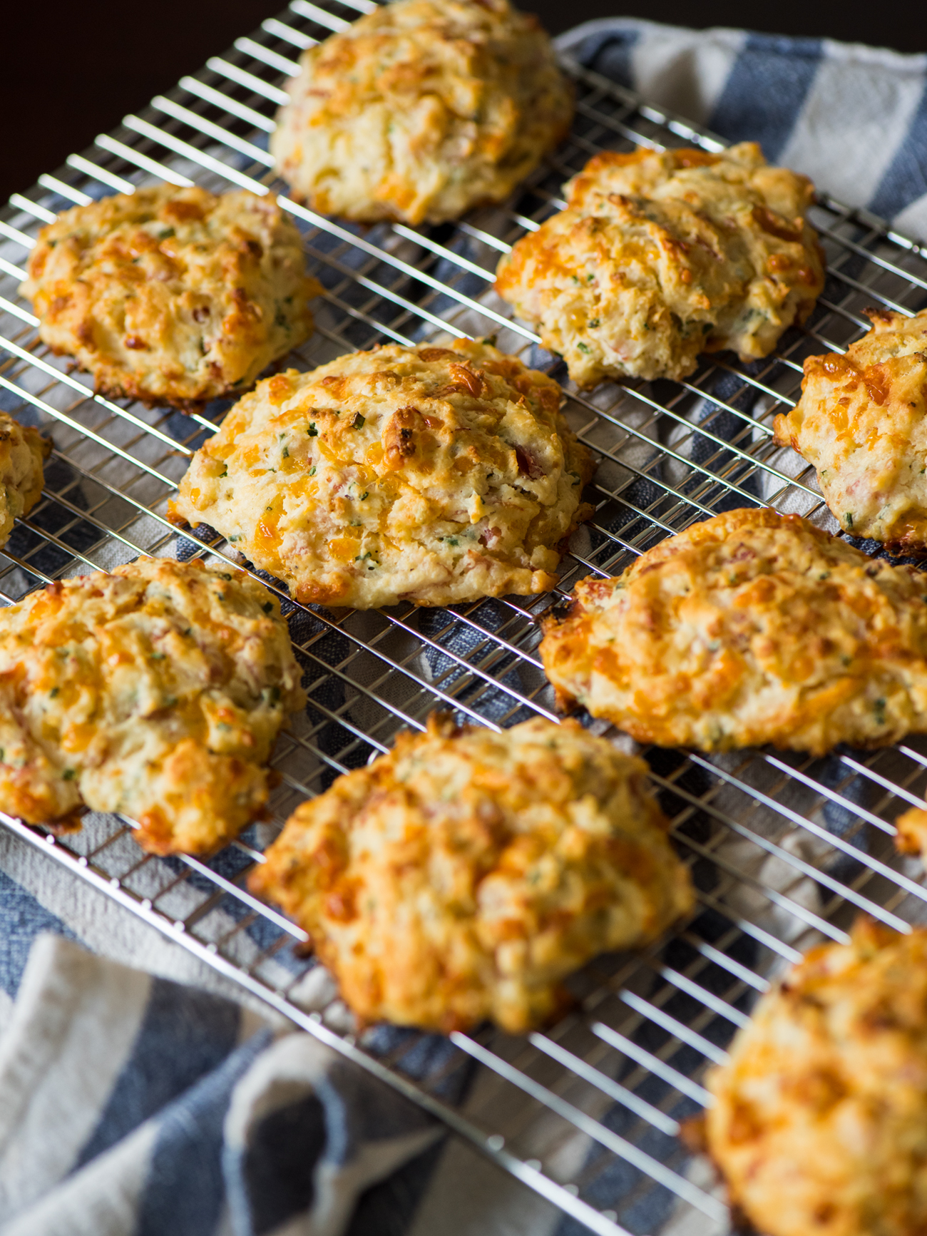 Ham and Cheese Drop Biscuits Vertical 3