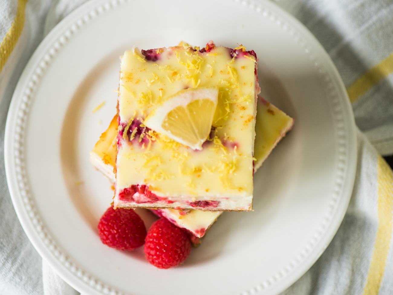 Lemon Raspberry Cheesecake Bars Horizontal 4