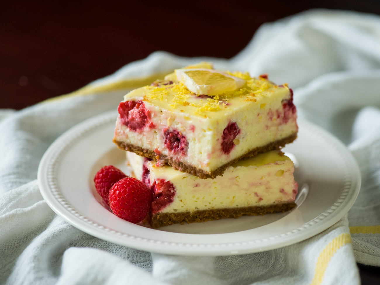 Lemon Raspberry Cheesecake Bars Horizontal 6