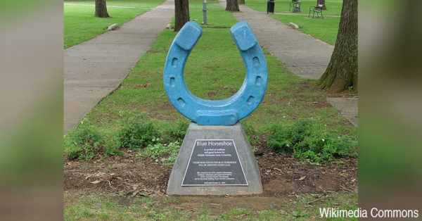 The MTSU horseshoe.