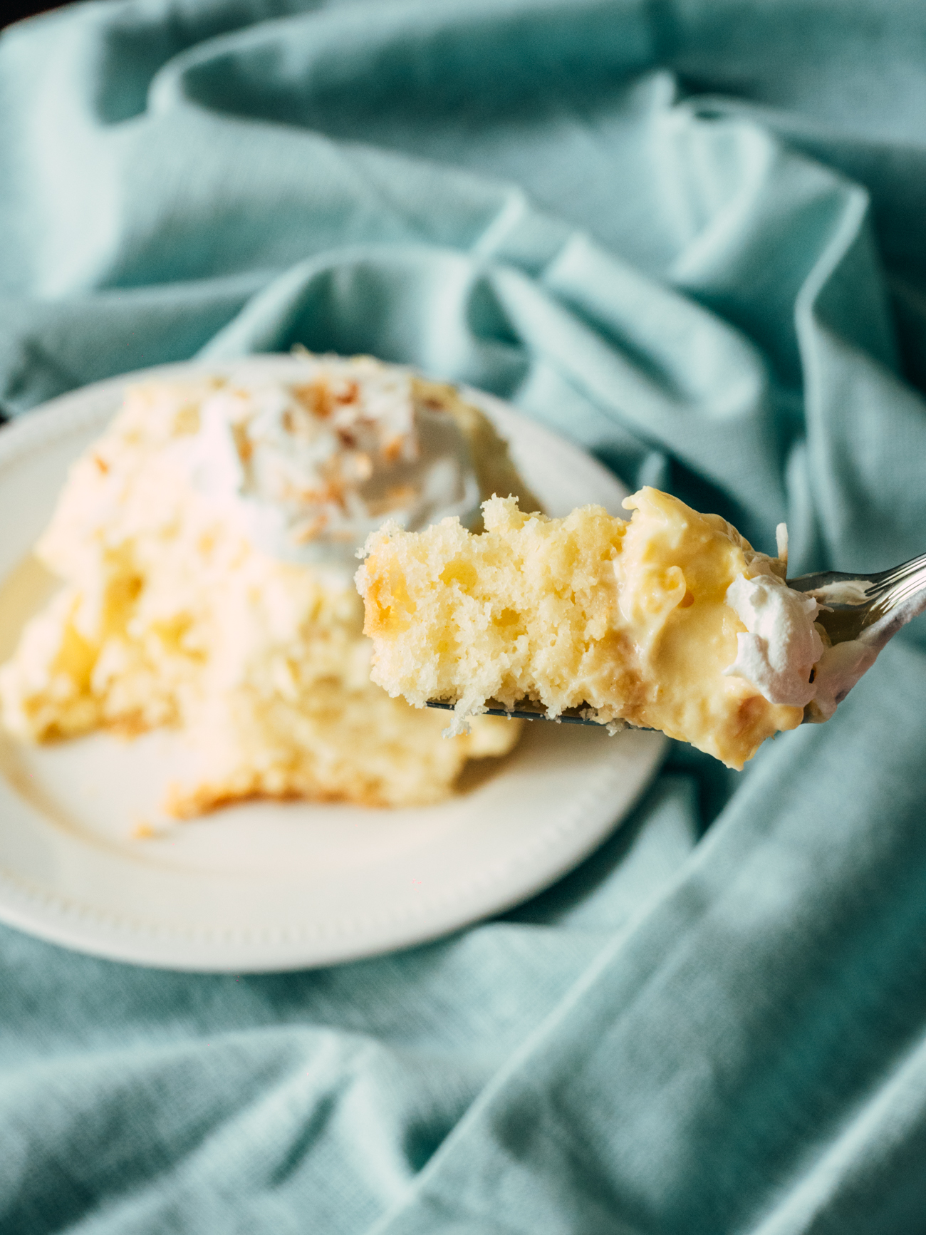 Hawaiian Coconut Poke Cake Vertical 1