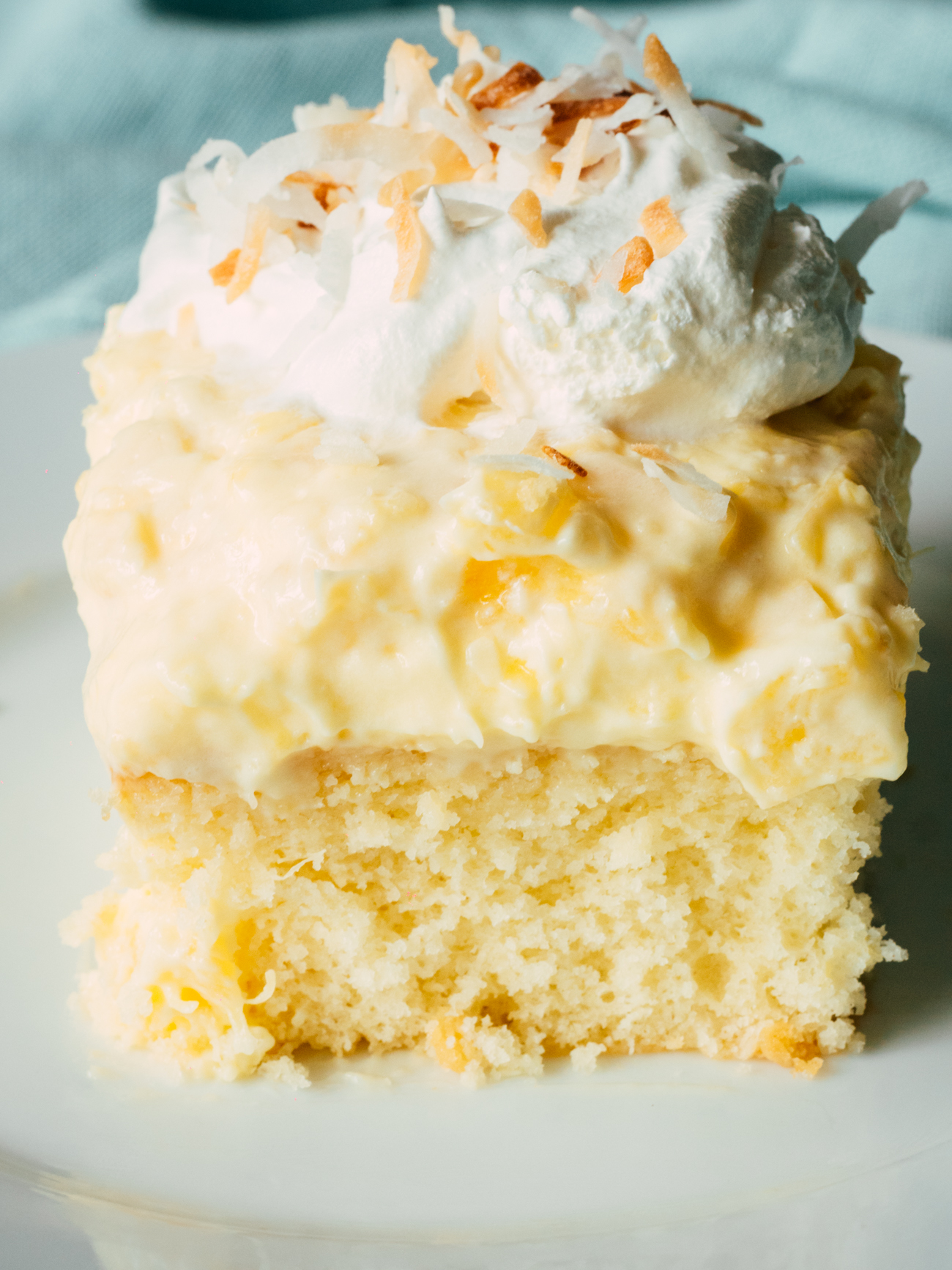 Hawaiian Coconut Poke Cake Vertical 2
