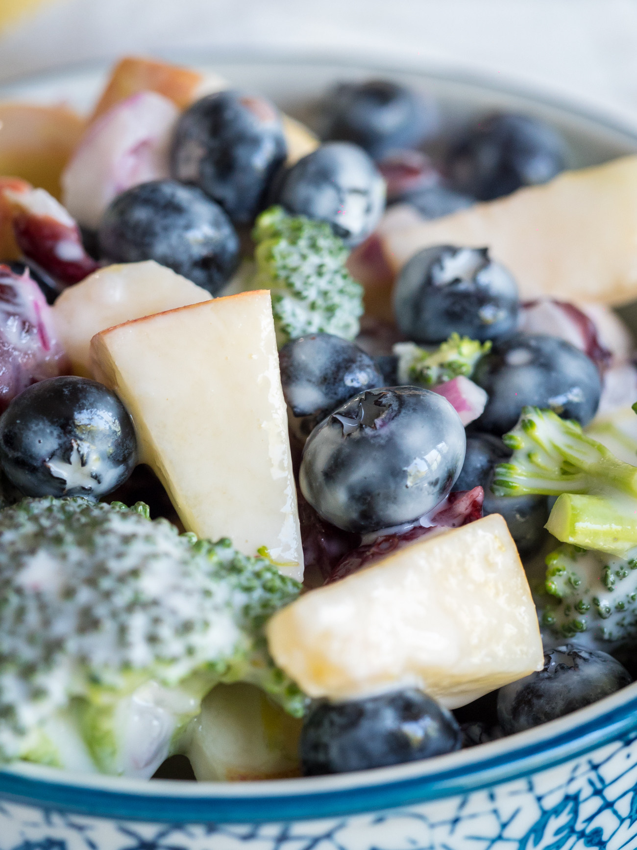 No-Mayo Blueberry Broccoli Salad Vertical 2