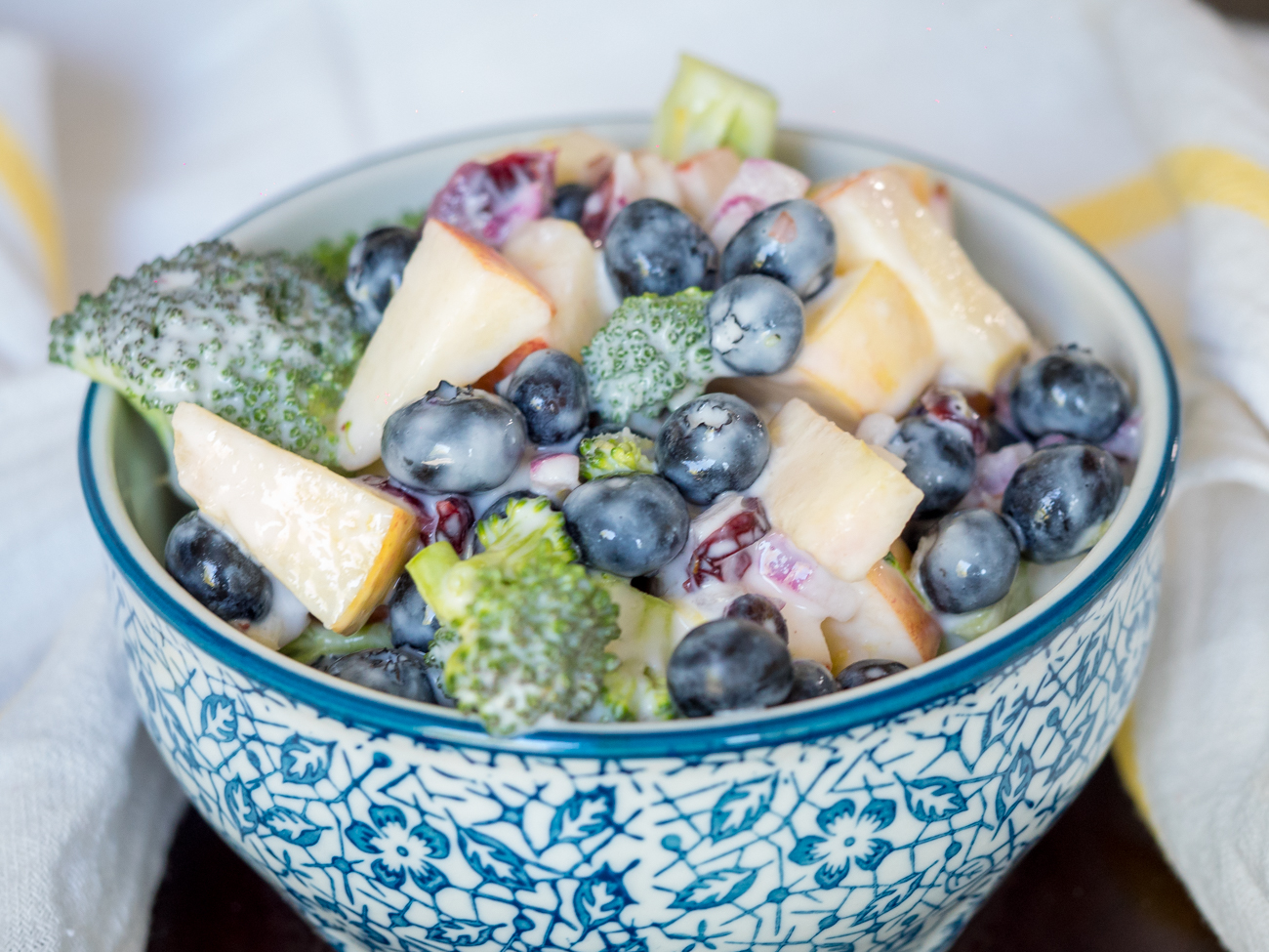 No-Mayo Blueberry Broccoli Salad Vertical 4