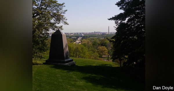 View from the Lee Mansion at Arlington.
