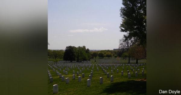 Gravestones at Arlington.