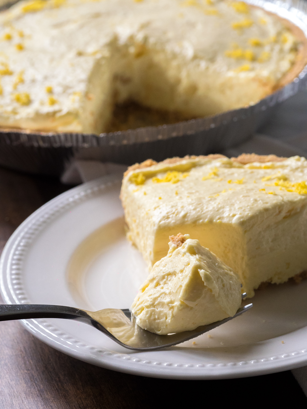 Cream Cheese Lemonade Pie Vertical 3