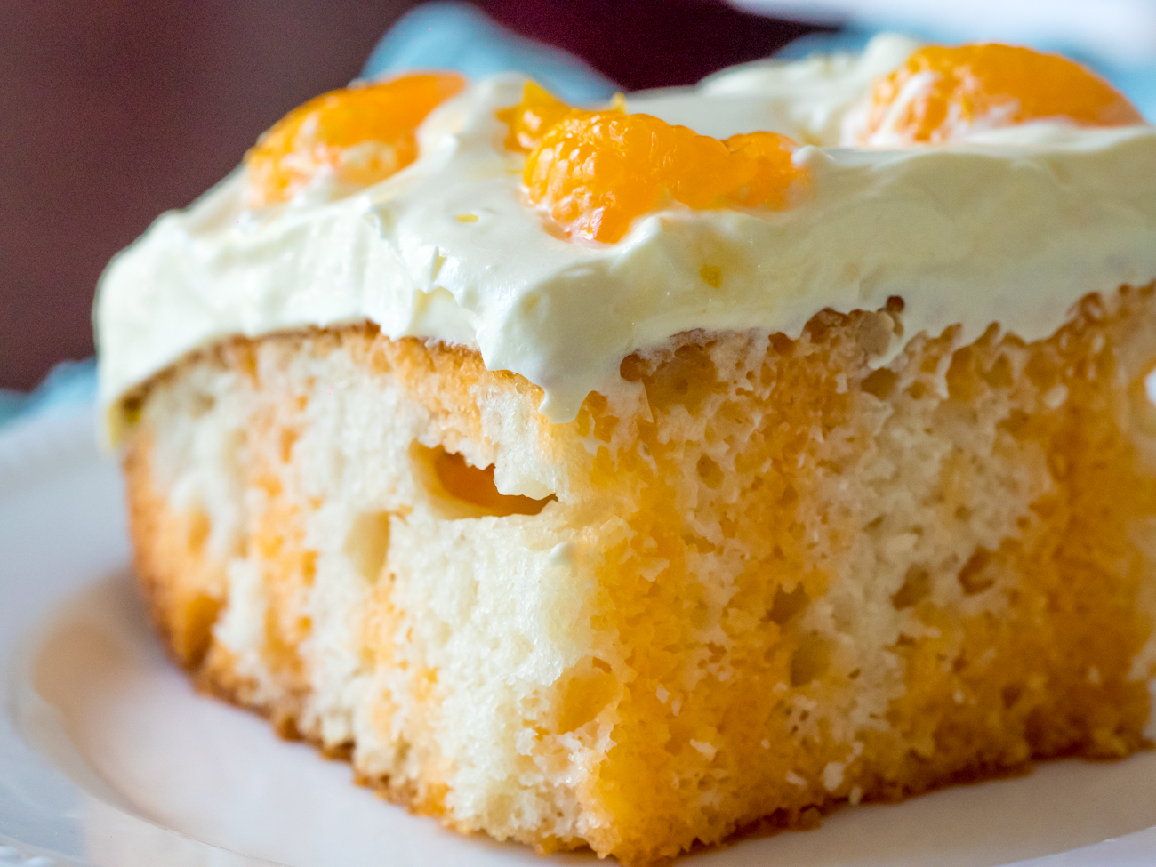 Vanilla Pudding Creamsicle Cake