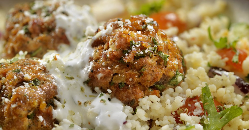 Chicken Meatballs With Tzatziki And Couscous 12 Tomatoes
