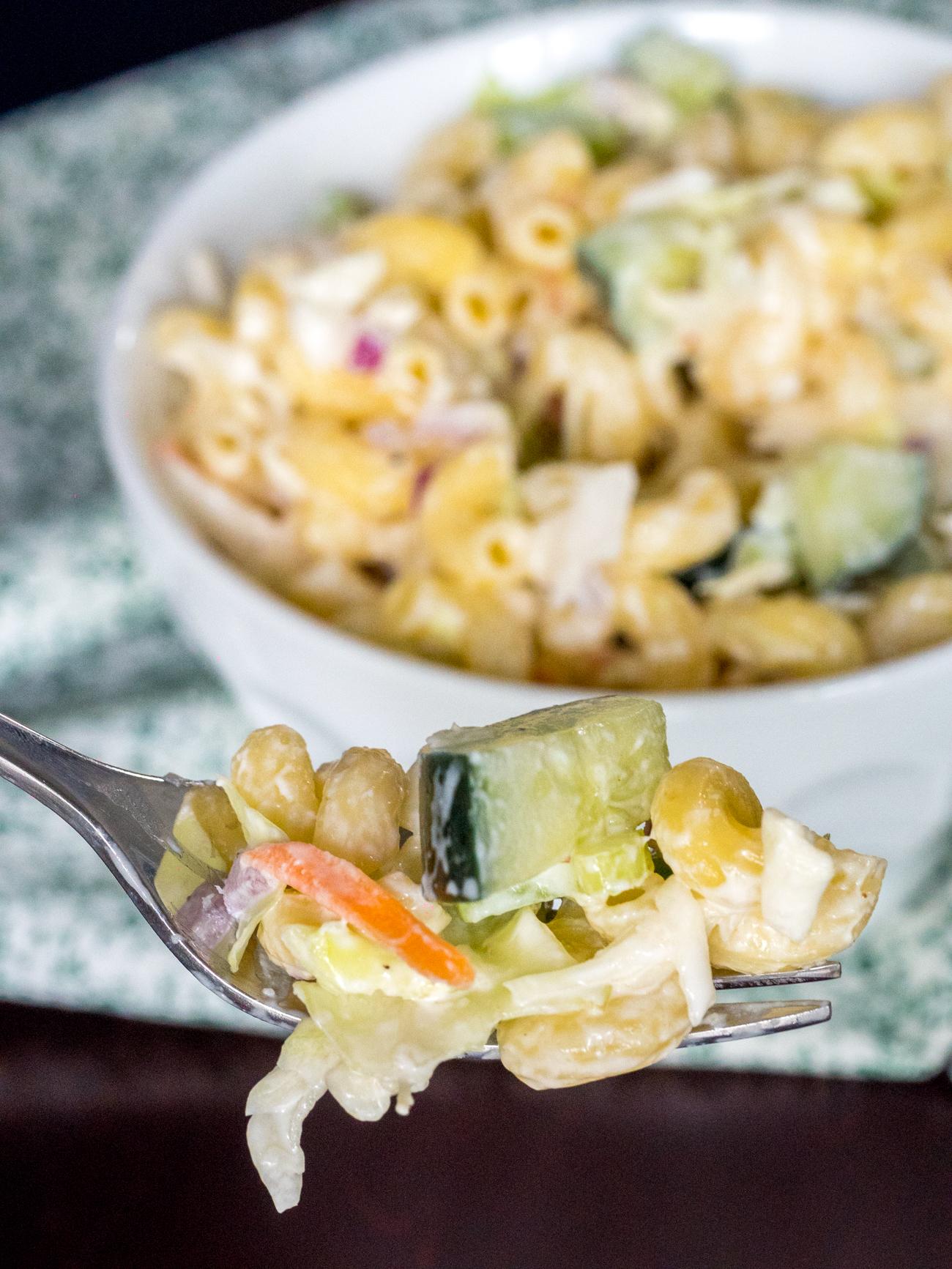 Macaroni Coleslaw Salad Vertical 2