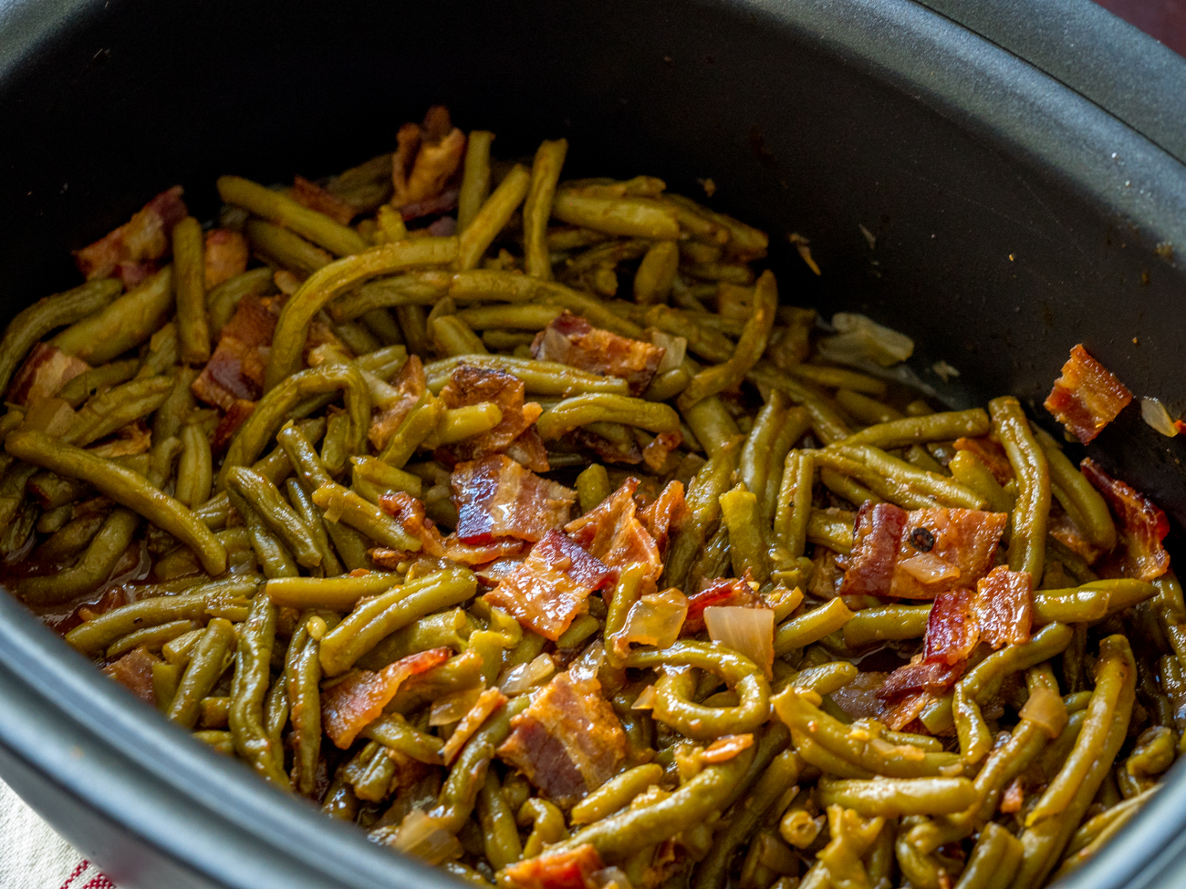 Slow Cooker BBQ Green Beans Horizontal 3