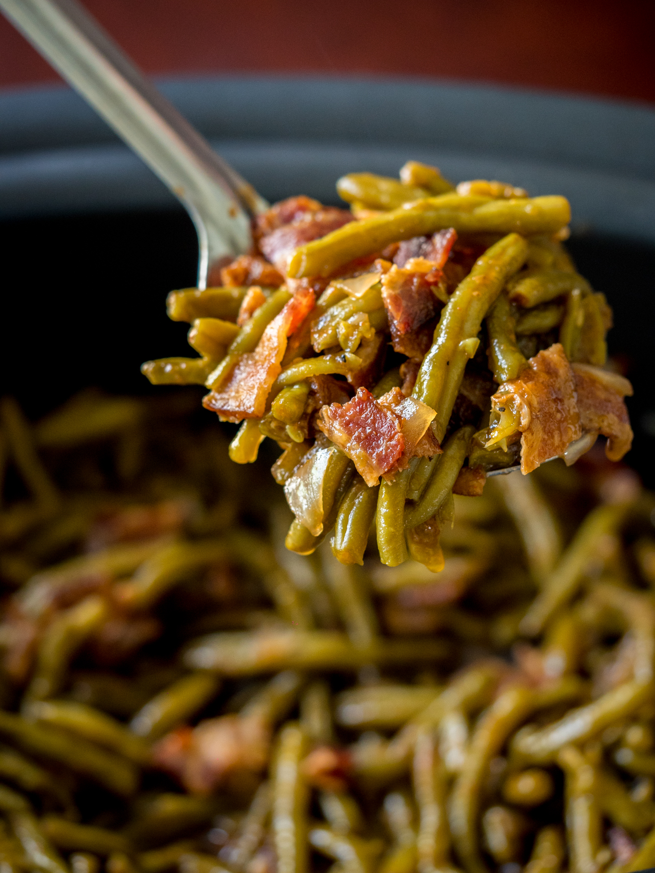 Slow Cooker BBQ Green Beans Vertical 2