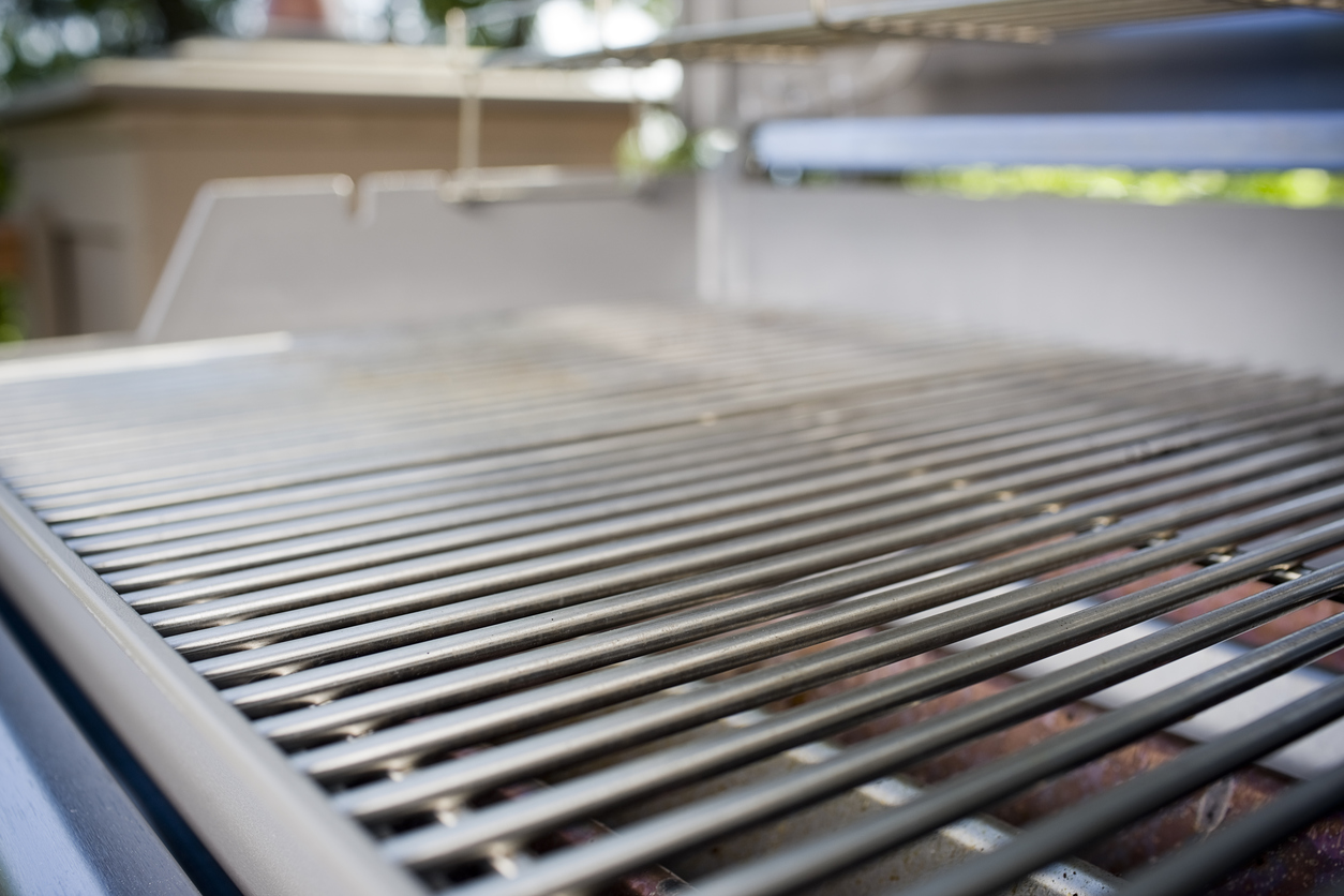 Clean grilling surface of a new BBQ. Copy space. CLICK FOR SIMILAR IMAGES.