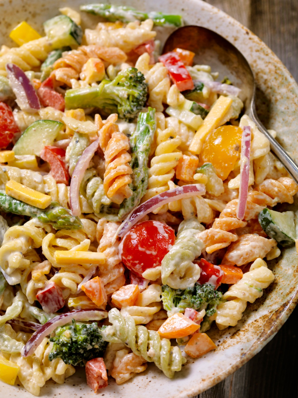 Creamy Pasta and Vegetable Salad