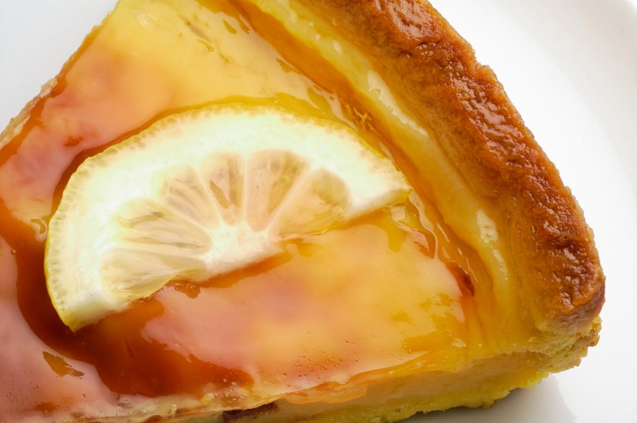 Lemon tart closeup