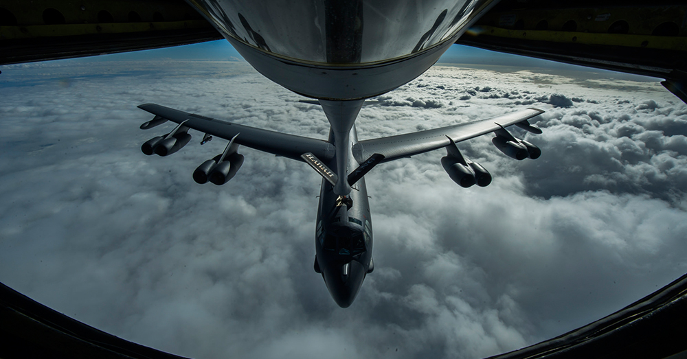 Photo: flickr/US Air Force -- A B-52 Stratofortress is refueled in-flight.