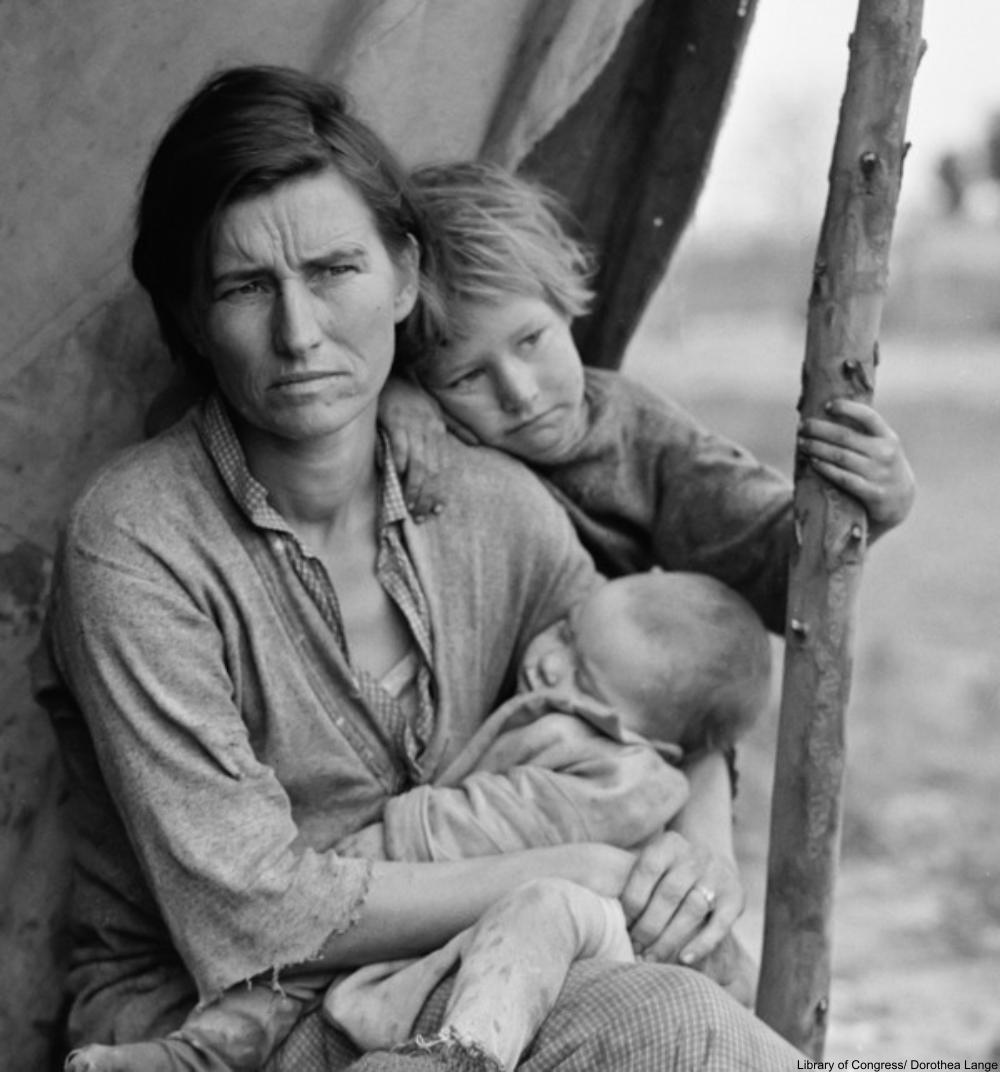 essay on dorothea lange photograph migrant mother Dorothea lange's images of depression-era america made her one of the  migrant mother, nipomo  lange purposely cropped the photograph into a tighter.