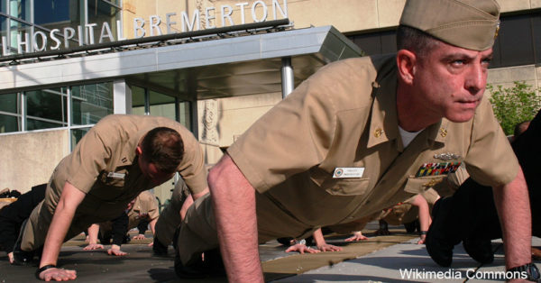 Service members take on the 22-pushup challenge, raising awareness of the number of military veterans who commit suicide each day.