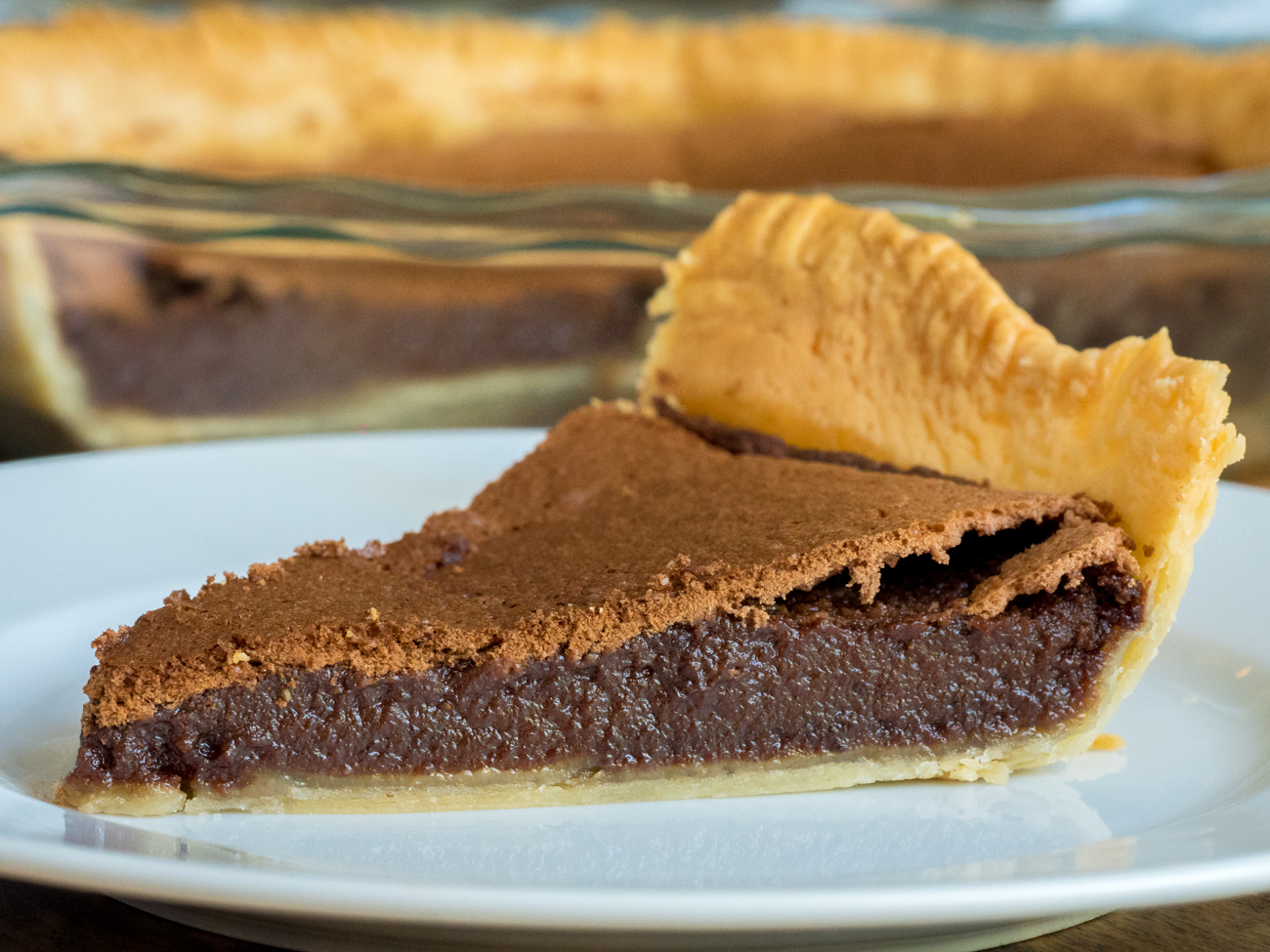 Chocolate Chess Pie Horizontal 3