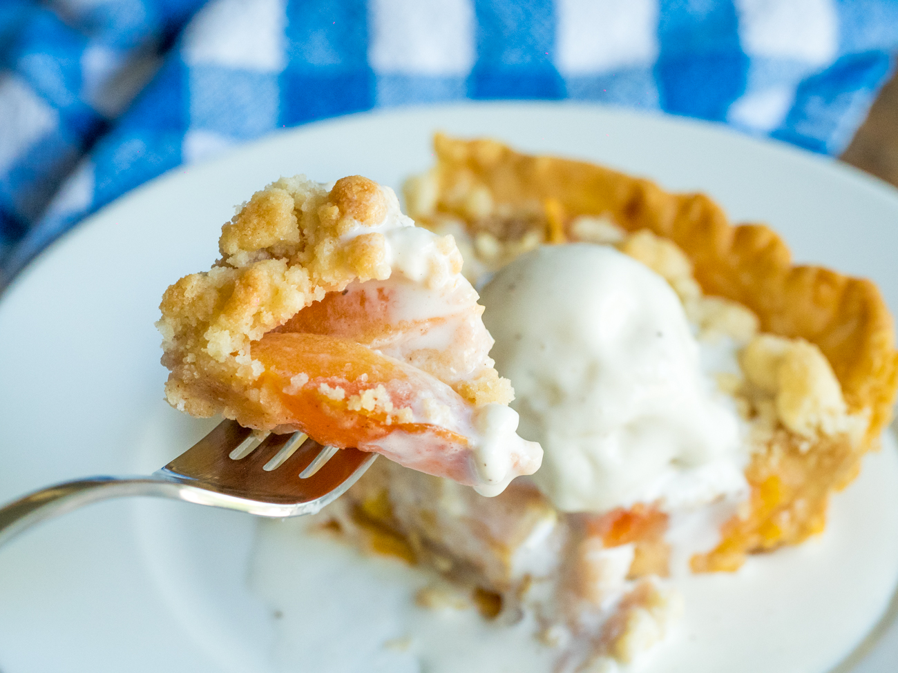 Custard Peach Pie Horizontal 10