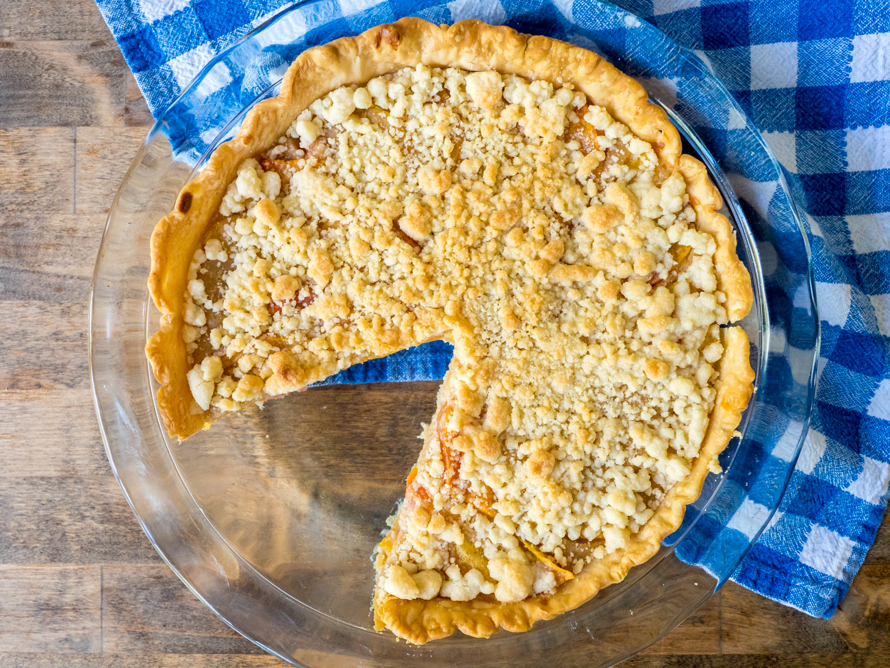 Custard Peach Pie Horizontal 2