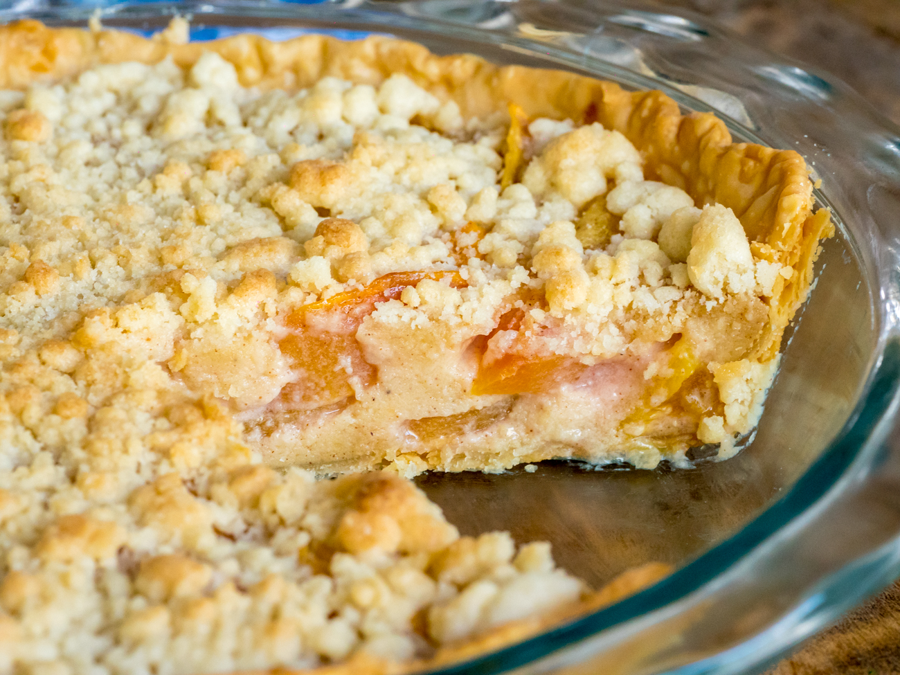 Custard Peach Pie Horizontal 4