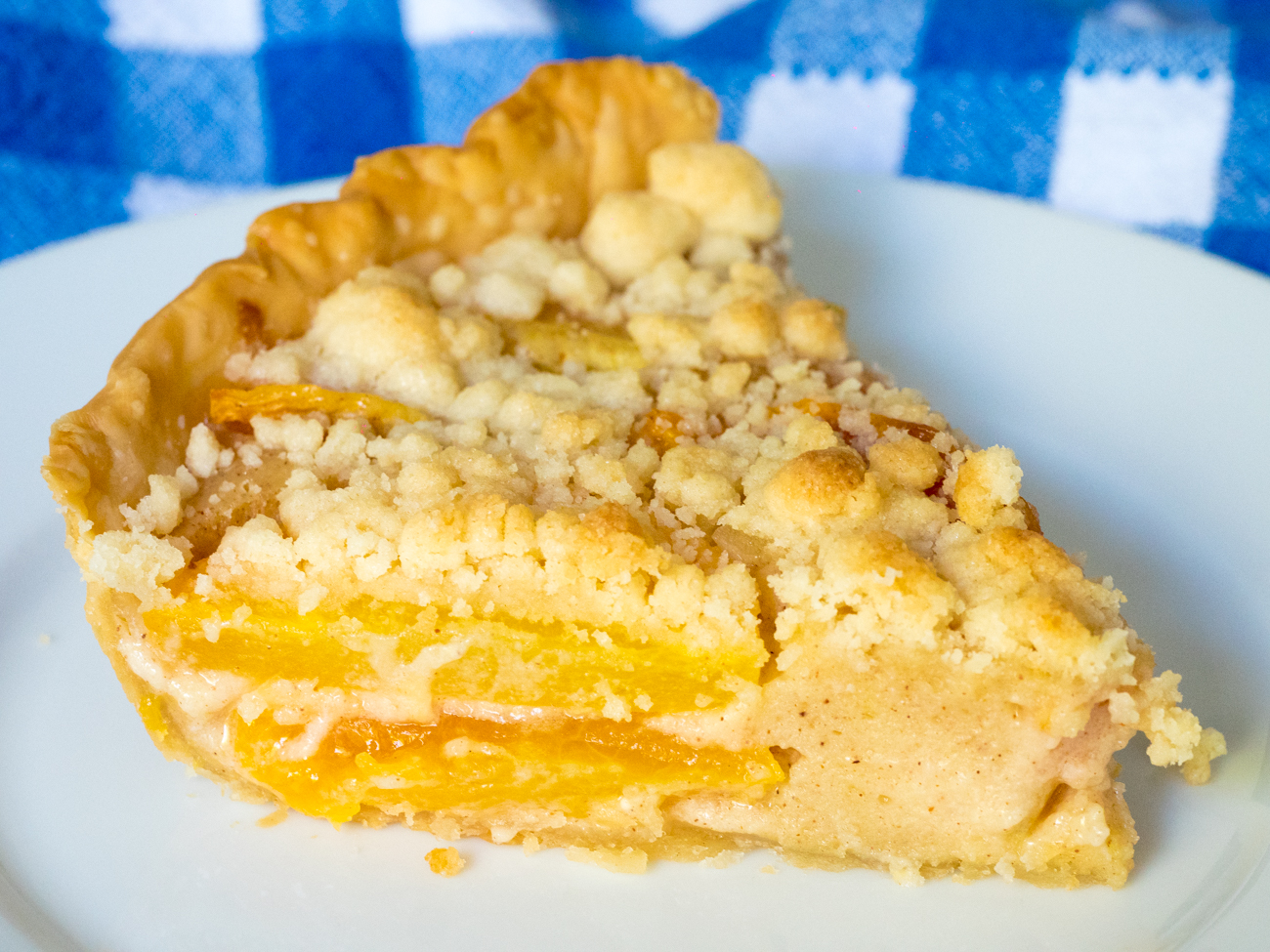 Custard Peach Pie – 12 Tomatoes