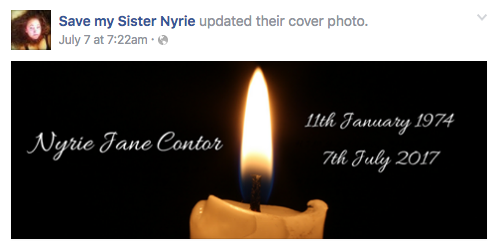 Photo: Facebook/Save my Sister Nyrie