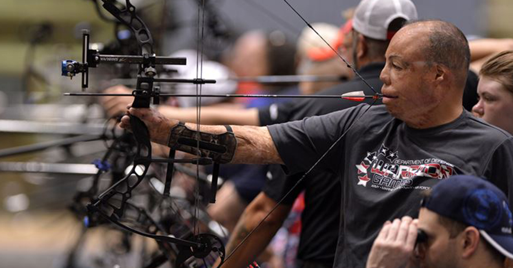 Photo: U.S. Air Force -- Master Sgt. Israel Del Toro Jr. competing in the archery competition at the 2016 Department of Defense Warrior Games.