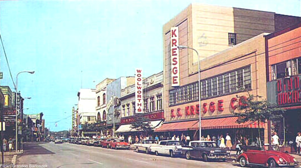 Five and dimes were the main stay of main street for Five and dime stores history