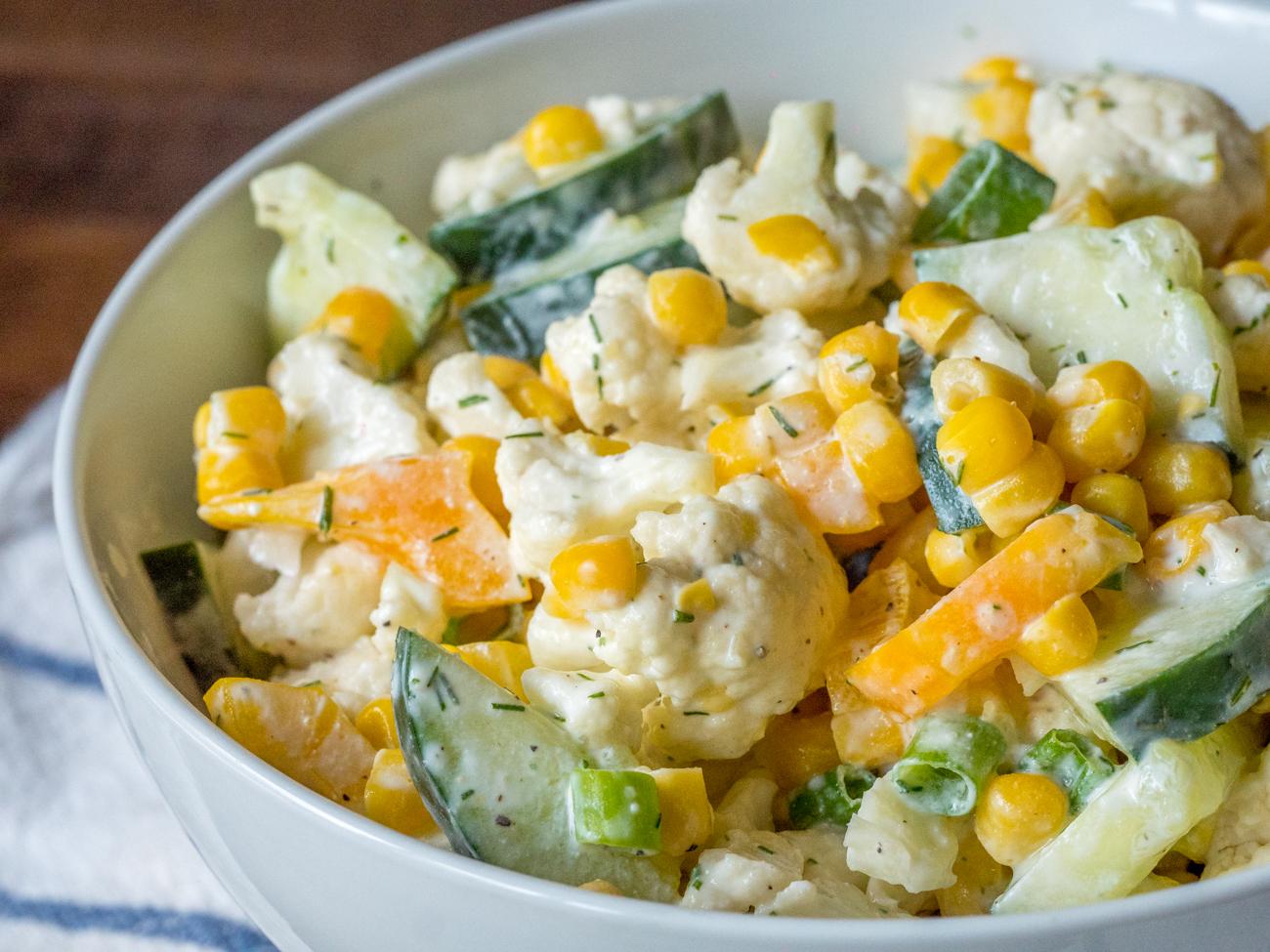 Creamy Cauliflower Salad Horizontal 2