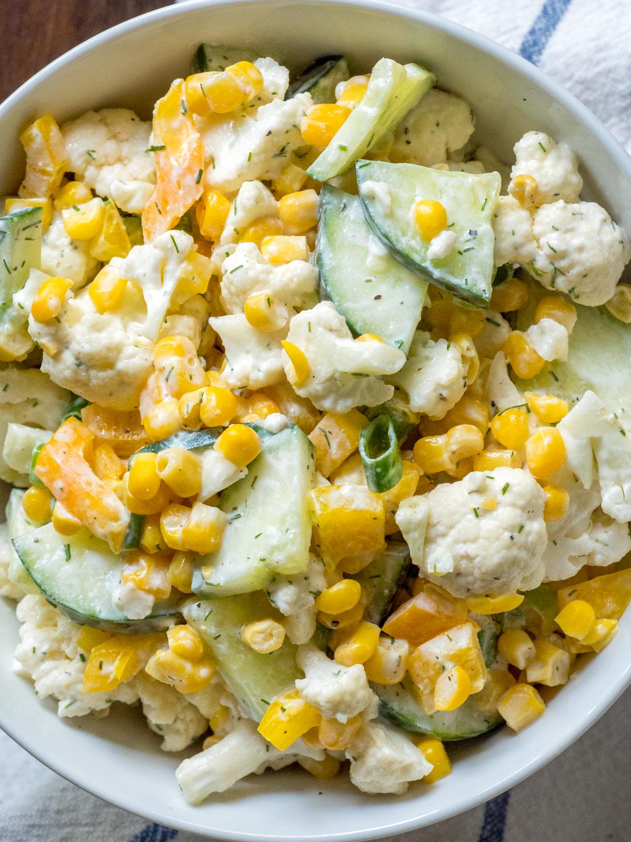 Creamy Cauliflower Salad Vertical 2