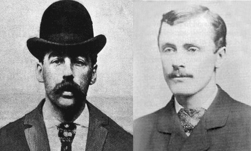 Holmes mugshot (left), Benjamin Pitezel (Right)
