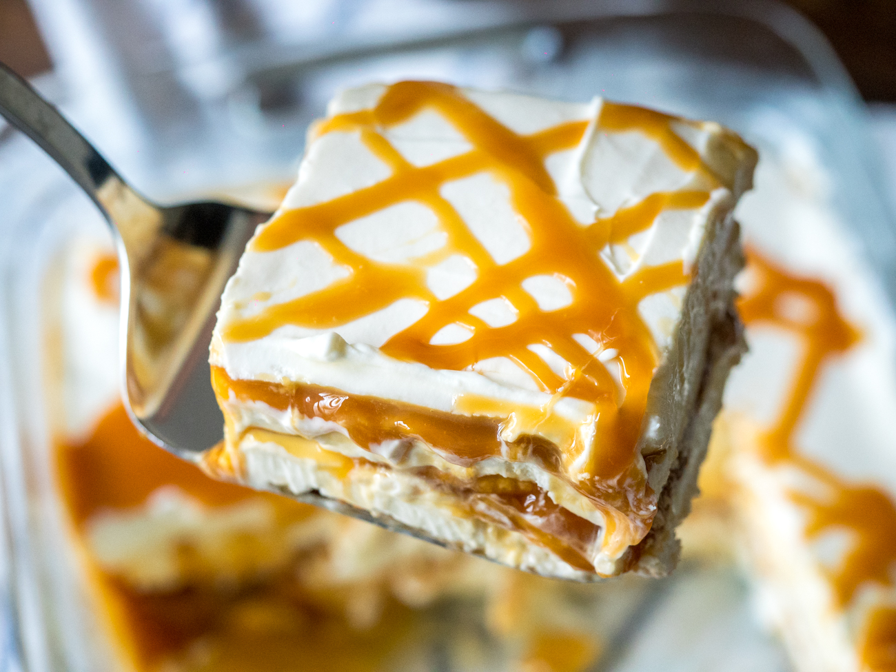 Ritz Cracler Salted Caramel Icebox Cake Horizontal 5